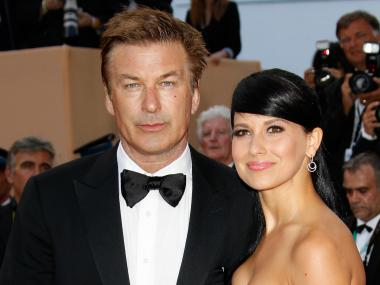 Actor Alec Baldwin and Hilaria Thomas at the 65th Annual Cannes Film Festival in May 2012.