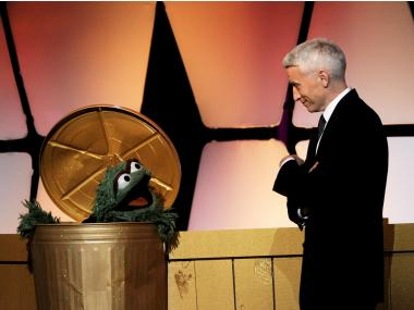 Cooper and Oscar the Grouch appear onstage at the 39th Annual Daytime Entertainment Emmy Awards at the Beverly Hilton Hotel on June 23, 2012 in Beverly Hills, California.