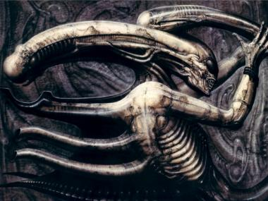The alien in Ridley Scott's sci-fi blockbuster Alien was conceived by Swiss artist H R Giger.