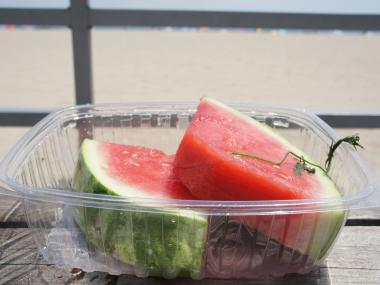 Pickled watermelon is a popular Russian summertime favorite, best enjoyed beachside.