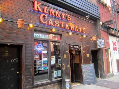 The rock and folk venue Kenny's Castaways has hosted now-famous musicians since 1967.