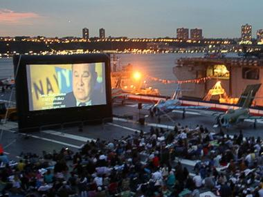 The Intrepid Sea, Air & Space Museum will resume its summer movie series in July and continue through mid-August.