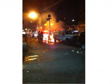 A BMW caught fire just before 11 p.m. July 4, 2012.