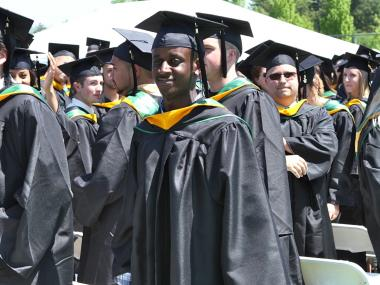 Matt Shaw at his graduation from Le Moyne College in May. On July 5, 2012, he was shot and killed on a street in Harlem.