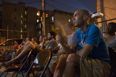 Moviegoers at the first annual summer film series at the Bronx Documentary Center in 2011. The 2012 series begins on Saturday, July 7.