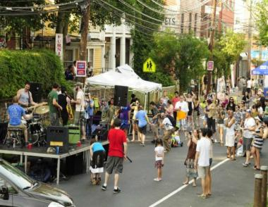 A band preforming at last year's Van Duzer Days street festival. This year's event will feature local bands playing live from 1 to 8 p.m.