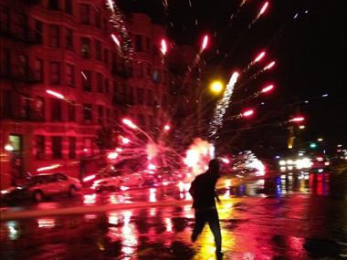 Illegal fireworks were set off throughout Washington Heights and Inwood on July 4, 2012.