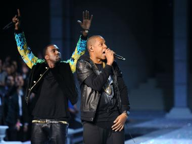 Jay-Z performing with Kanye West at the 2011 Victoria's Secret Fashion Show. Jay-Z will perform at the Barclay's Center on September 28, 29, and 30, 2012.
