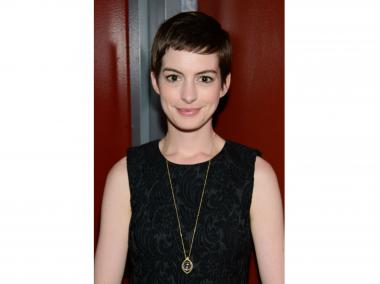 Soon-to-be Catwoman Anne Hathaway at LCD Soundsystem's farewell concert.
