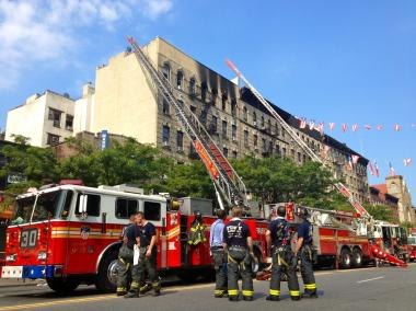 More than 130 firefighters responded to an early-morning blaze at a house in Dongan Hills, the FDNY said.