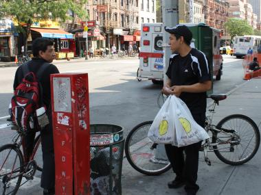 Issues with cyclists are the No. 1 complaint to cops in Hell's Kitchen, according to the Midtown North Precinct.