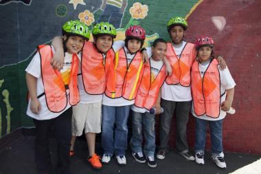 Members of the Bronx Helpers, from left to right: Raphael Gonzales, Bryan Alvaraz, Brandon Interiano, Deomar Suarez, Jose Bustamante, Estarlin Nunez.