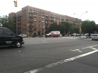 The intersection at E. 170th Street and Grand Concourse, were two men were hit and one killed on July 14, 2012.