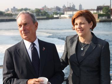 Mayor Bloomberg and City Council Speaker Christine Quinn rode the East River Ferry Monday morning to celebrate its one millionth ride.