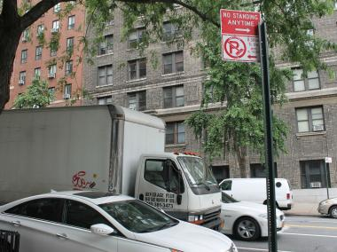 Double parking has been a problem on West End Avenue, said the DOT.