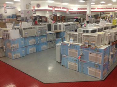 P.C. Richard & Son was well-stocked with air conditioners on July 16, 2012.