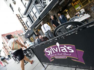 Harlem powerbrokers met at Sylvia's recently to discuss the rise in small business closures.