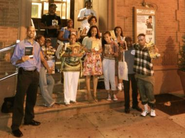Joe Rogers, left, organized Literacy Across Harlem, a march and book donation event that will take place on Saturday.