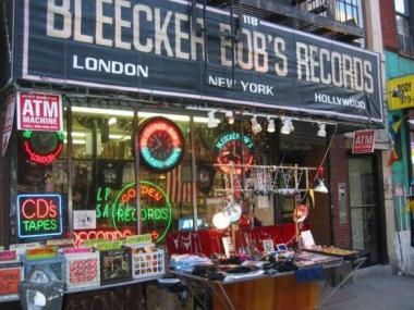 Bleecker Bob's Golden Oldies remains open as the building's landlord looks for a new tenant.