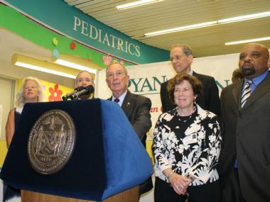 Mayor Michael Bloomberg touts the benefits of his proposed large soda ban ahead of a Board of Health hearing.