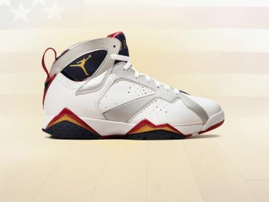 Four people waiting on line for Nike Air Jordan 7 Retro Olympic sneakers got into a brawl on Saturday.