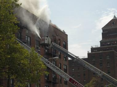 A massive fire broke out on New York Avenue in East Flatbush.