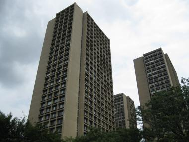 An audit by the state comptroller's office found that residents at Washington Square Southeast, one of the three I.M. Pei-designed buildings on NYU's campus, illegally listed their apartments on Airbnb.