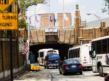 There were multiple accidents at the Lincoln Tunnel on Nov. 12, 2012.