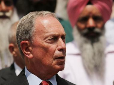 Mayor Michael Bloomberg speaks while meeting with area Sikh members at the Sikh Cultural Society in Queens following the deadly shootings at a Sikh temple in Wisconsin by an Army vet on Aug. 6, 2012.