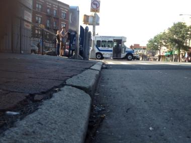 A cyclist was hurt in an accident at Flatbush and Foster avenues in Brooklyn Aug. 6, 2012.