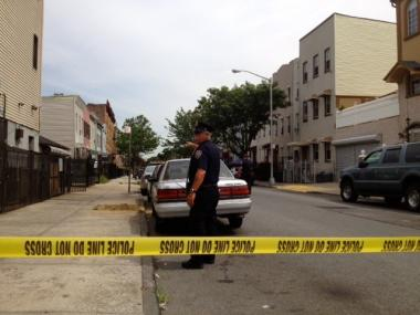 A man was shot in the leg at Liberty Avenue and Barbey Street in Bushwick on August 7, 2012.