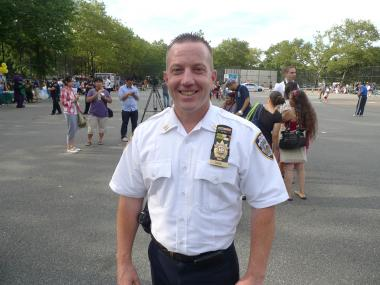 Deputy Inspector James Grant, seen here when he was the captain in charge of Brooklyn's 72nd Precinct.