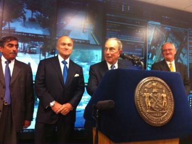 Mayor Bloomberg helped announce the Domain Awareness System on Aug. 8, 2012.