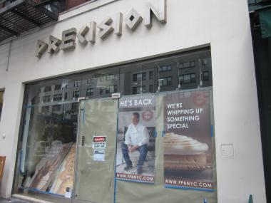 Signs in a vacant storefront across from the new Maison Kayser are advertising that Payard is coming to the block, too.