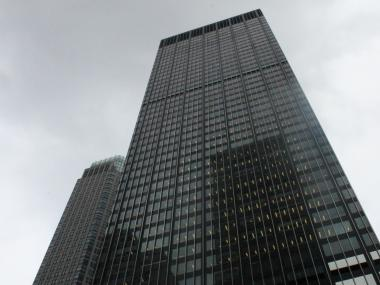 Two window washers were trapped at the JP Morgan Chase Tower on Park Avenue on Friday, August 10, 2012.