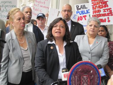 City Councilwoman Rosie Mendez accused the media of unfairly targeting NYCHA, the city's public housing authority.