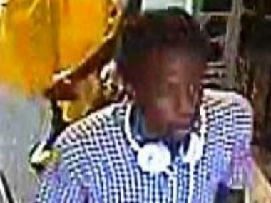 Police are searching for this suspect, wanted in connection with an iPod theft in the Bronx on July 17, 2012.