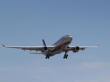 A Moscow-bound Aeroflot Airbus A330-300 from John F. Kennedy International Airport was forced to land in Iceland early Thursday after an anonymous caller claimed there were bombs aboard the plane, news sources said. No explosives were found.