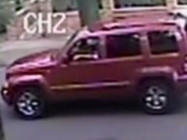 A pair of alleged robbers reportedly fled in this Jeep after ripping-off an elderly man in his home Tuesday afternoon, Aug. 14, 2012, the NYPD said.