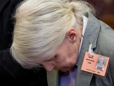 Anita Collins appears in Manhattan Supreme Court on August 16th, 2012.