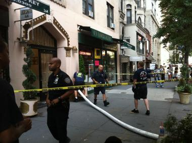 FDNY responded to an Upper West Side fire around 8 a.m. Monday