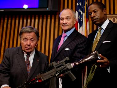 Police Commissioner Ray Kelly spoke Monday on the New York City Police Department's weekend gun buy back event, where officers and other members of the community collected 509 guns from the surrounding Queens area — one of the program's most successful buybacks since its inception in 2008.