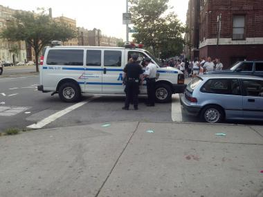 A man was stabbed in The Bronx on Aug. 21, 2012, at the corner of Grand Concourse and East 199th Street.