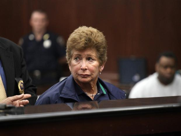 Lois Ann Goodman, 70, was arraigned in Manhattan Criminal Court on Tuesday, Aug. 21, 2012, for allegedly beating her husband to death with a coffee mug in California.
