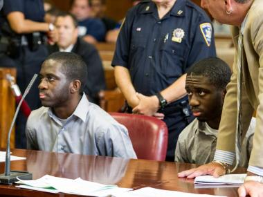 Kadean and Hodean Graham are sentenced in Manhattan Supreme Court on August 22nd, 2012.