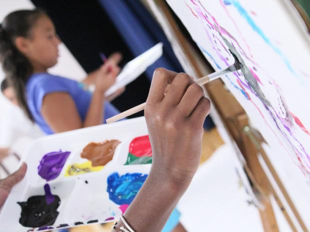 Lower East Side kids compete in an art battle with the Educational Alliance.