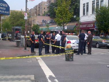 Police at the scene of a Bronx shooting on Aug. 23, 2012.