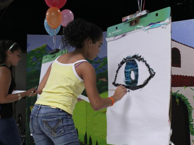 The Educational Alliance hosted an art battle for as part of its summer programing.