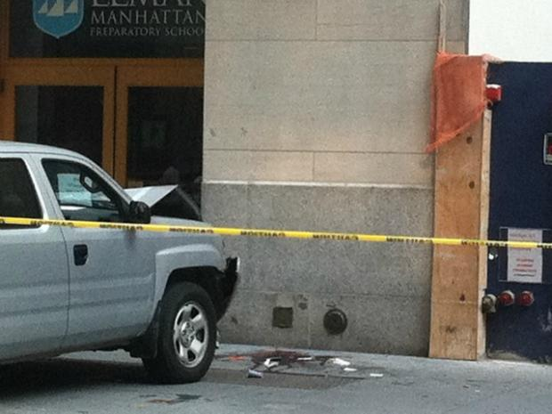One of the victims was seriously injured in the accident near 45 Broad Street, officials said.