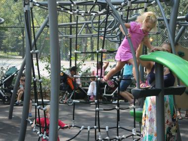 Elephant Playground, one of the beloved Riverside Park play spaces, received a $900,000 renovation after twenty years without any updating.